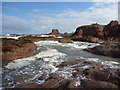 NT6779 : Coastal East Lothian : A Sunny Afternoon on the Inter-tidal Platform at Dunbar by Richard West