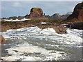 NT6779 : Coastal East Lothian : Incoming Tide at Dunbar by Richard West