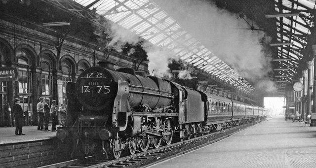 Smoke and noise as a Special runs through Preston Station