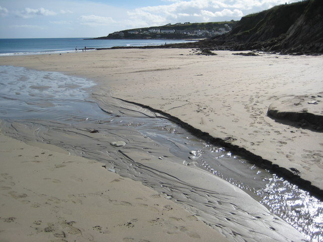 On Porthcurnick Beach