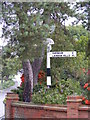 TQ6482 : Old roadsign on  Prince Charles Avenue by Geographer