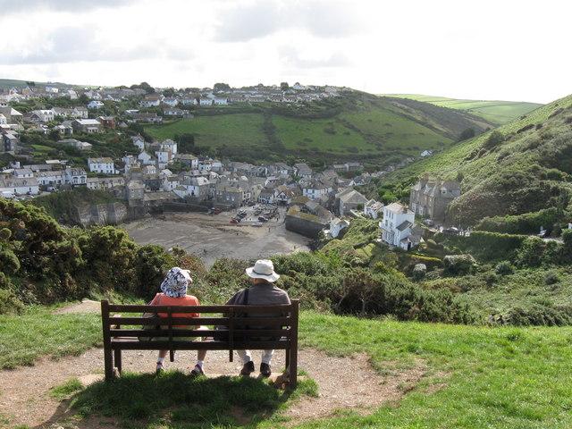 Admiring the view.  Port  Isaac,  Cornwall