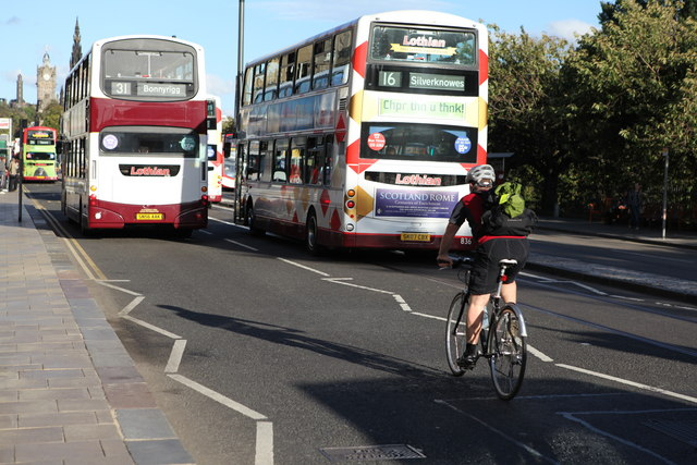 Cyclist on Princes Street