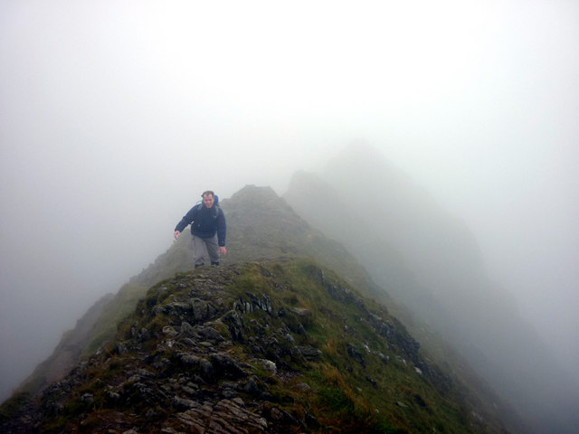 Striding Edge on a misty day