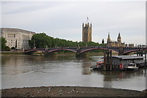 TQ3078 : View from Albert Embankment to Lambeth Bridge by N Chadwick