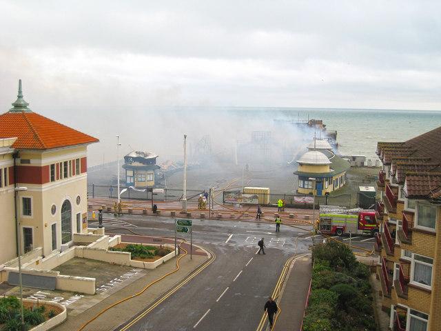 Hastings Pier on Fire