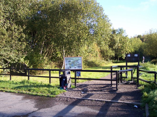 Entrance to Wigan Flashes Nature Reserve