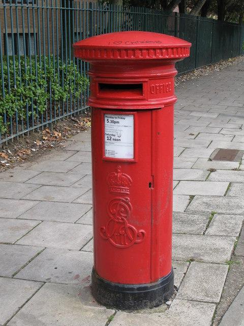 Edward VII postbox, Stanhope Street, NE4