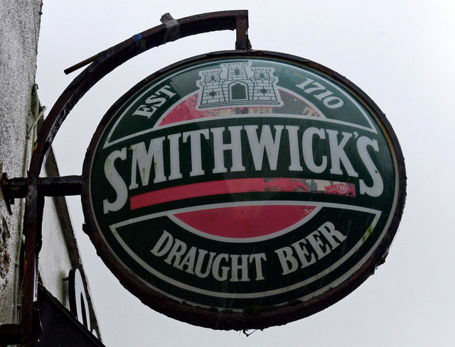 Smithwick's Draught Beer sign at Corleys Abbey Lodge Bar Lounge Restaurant