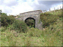 SN0729 : Old road bridge over abandoned railway by Martin Southwood