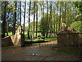 TQ2152 : Lion protected entrance to Headley Grove by Oast House Archive