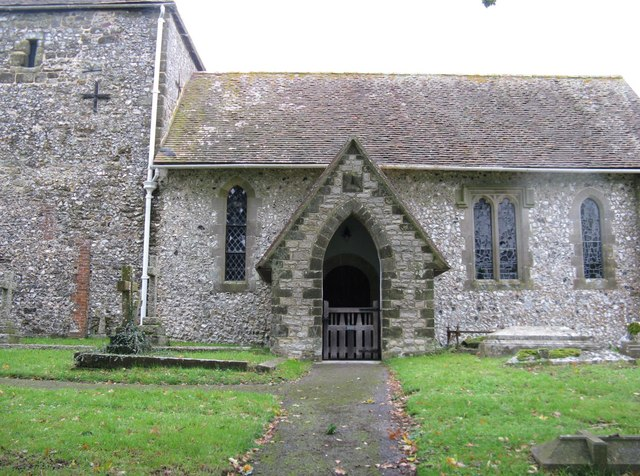 Stone porch on St Mary's Church Bepton