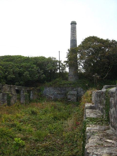 Chimney stack at Baker's Pit
