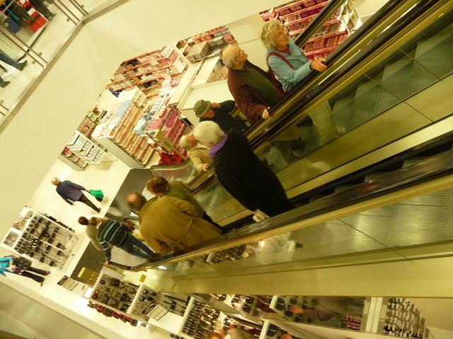 Exeter : Marks & Spencer Escalator