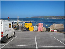 SW3526 : The harbour car park at Sennen Cove by Rod Allday