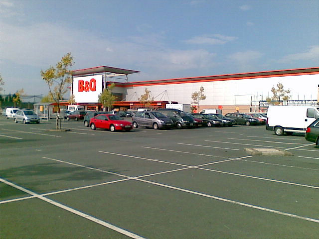 Car park at B&Q, Heaton Norris
