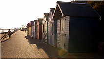 TG2142 : Beach Huts, Cromer, Norfolk by Christine Matthews