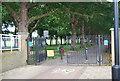 TQ2575 : Thames Path enters Wandsworth Park by N Chadwick