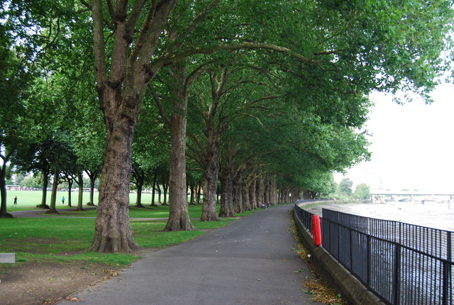 Thames Path in Wandsworth Park