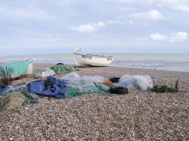Fishing tackle at Cooden Beach, East Sussex