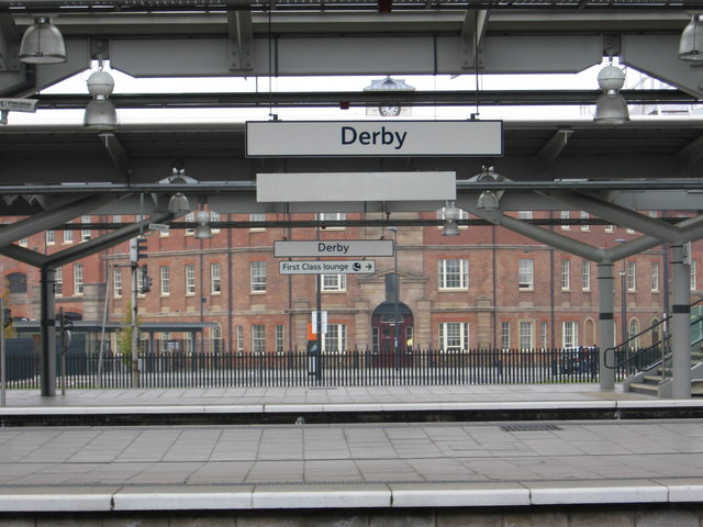 Derby - Station Platforms and ex-NMR Offices