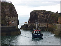 NT6779 : Coastal East Lothian : Coming Back From The Fishing - Homarus Entering Victoria Harbour, Dunbar by Richard West