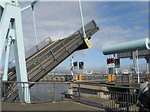 ST1972 : Bascule bridge operating on the Cardiff Bay Barrage by M J Richardson