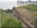 TQ7076 : Brennan Torpedo Launch Tracks at Cliffe Fort by Oast House Archive