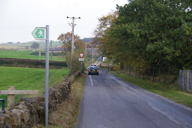Lane crossing the A676