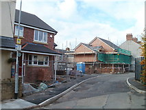 ST3288 : Construction site, Exeter Road and Vine Place, Newport by Jaggery