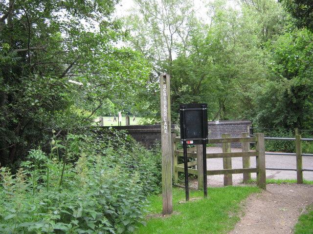 Scribers Lane, footpath