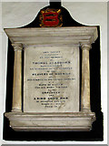 TG2209 : The church of St Augustine, Norwich - C19 memorial by Evelyn Simak