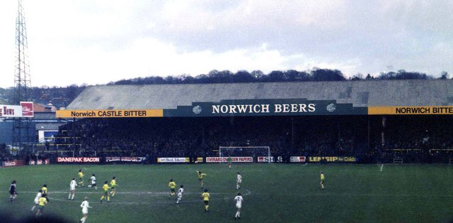 The home end at Carrow Road in 1981