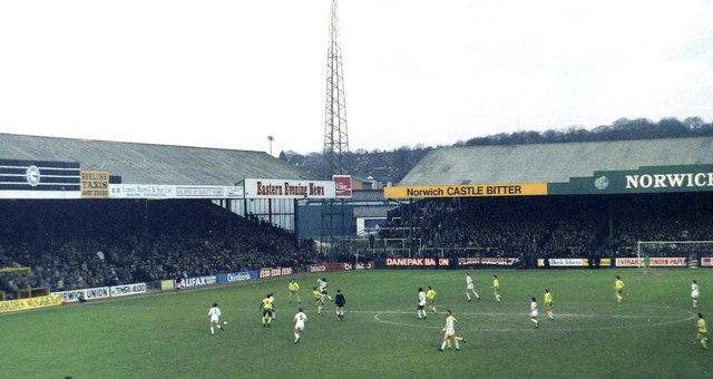 Carrow Road Stadium in 1981