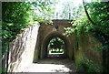TQ4647 : Railway bridge near Medhurst Row by N Chadwick