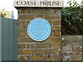 TR3751 : Blue plaque at Coast House, The Beach, Lower Walmer by pam fray