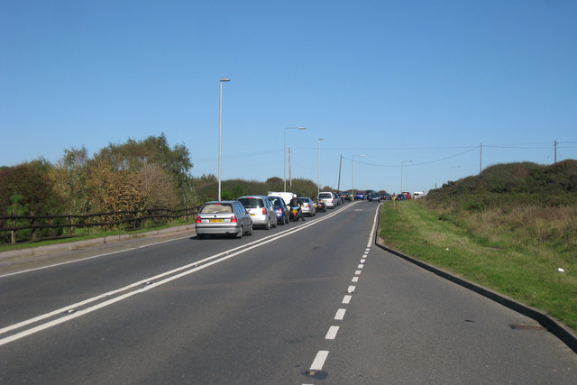 South Coast Road traffic queue by Oast House Archive