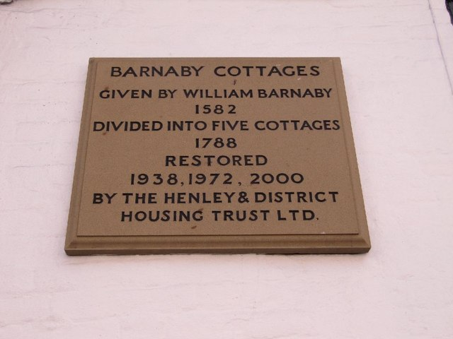 Plaque on the cottages
