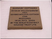 SU7682 : Plaque on the cottages by Bill Nicholls