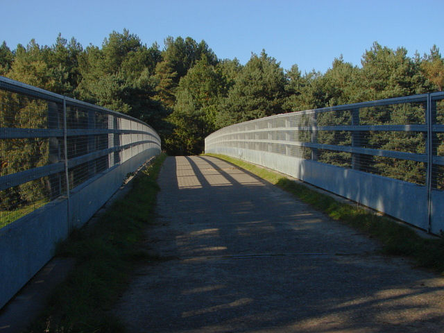 Esher Common, footbridge over the A3