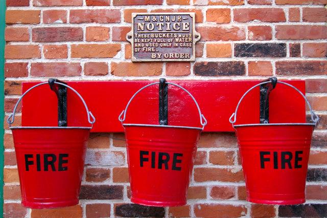 Fire Buckets, Holt Station, Norfolk