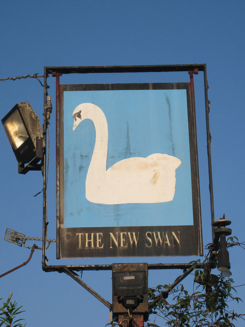 The New Swan sign