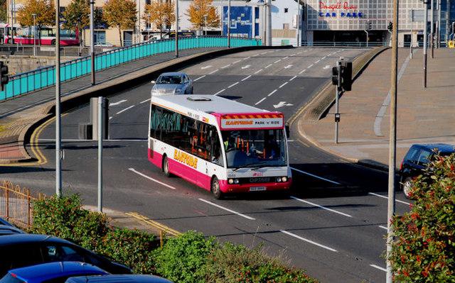 Eastside park and ride bus, Belfast (2)