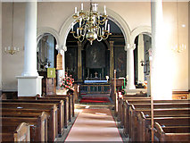 TF6415 : All Saints' church in North Runcton - view east by Evelyn Simak