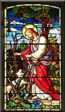 TF6415 : All Saints' church in North Runcton - Victorian glass by Evelyn Simak