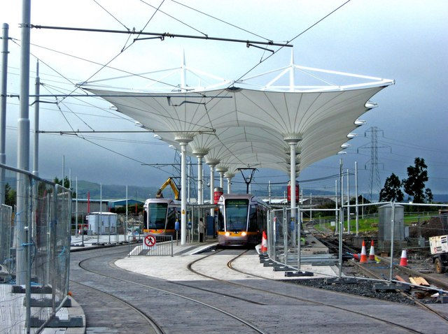 Off Road Design >> Belgard tram stop, Belgard © L S Wilson cc-by-sa/2.0 :: Geograph Ireland