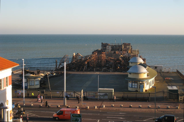 Hastings Pier remains