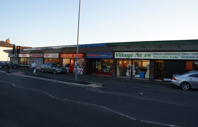 Row of shops on Darwen Road