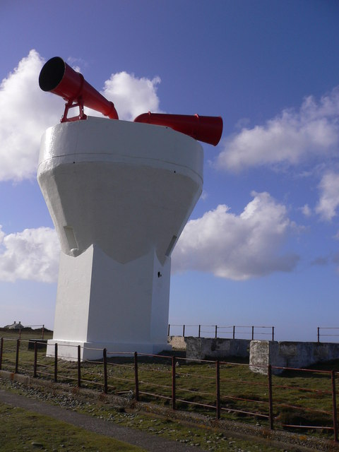 Fog signal at Point of Ayre on the Isle of Man