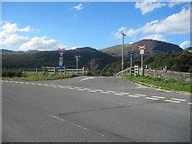 SH6041 : Ynysfor railway crossing off B4410 by John Firth